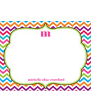 Multi Color Chevron Flat Note Cards