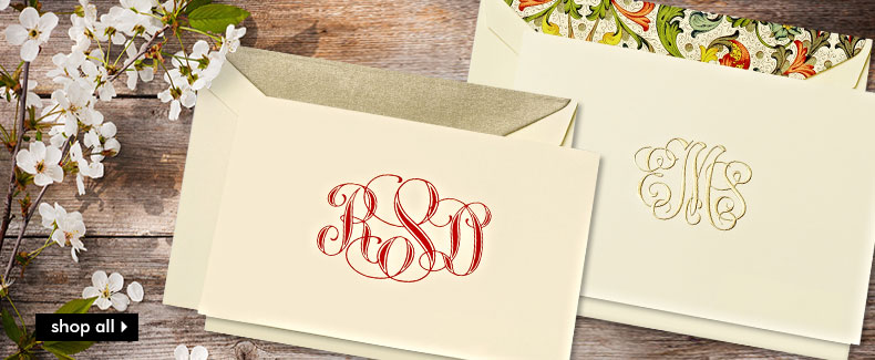 Monogrammed Note Cards